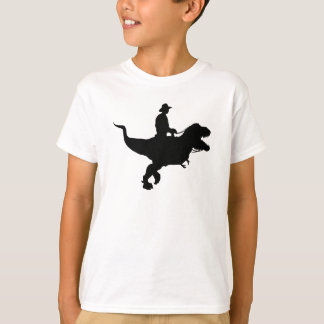 Cowboy Riding T-Rex KIds T-shirt