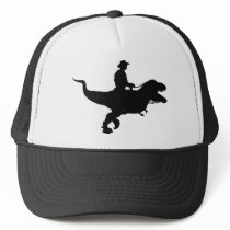 Cowboy Riding T-Rex Trucker Hat