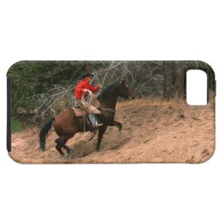Cowboy riding uphill iPhone SE/5/5s case