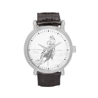 Cowboy Riding Wristwatch