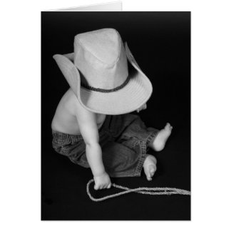 Cowboy/Rodeo Baby Card