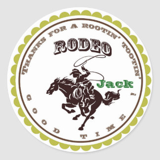 Cowboy Rodeo Birthday Party Favor Stickers