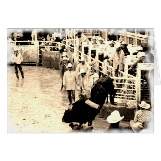 Cowboy Rodeo Greeting Card