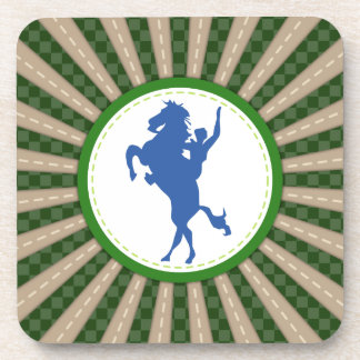Cowboy Rodeo Green Blue Coaster
