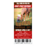 Cowboy Rodeo Invitations, envelopes included 4x9.25 Paper Invitation Card
