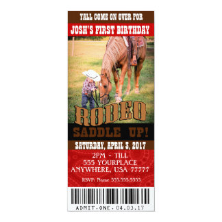 Cowboy Rodeo Invitations, envelopes included Card