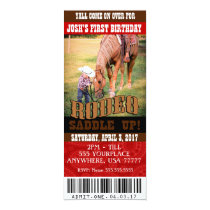 Cowboy Rodeo Invitations, envelopes included Invitation