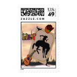 Cowboy Rodeo Postage Stamps