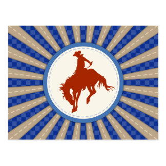 Cowboy Rodeo Postcard