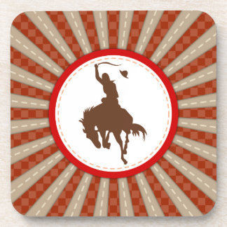 Cowboy Rodeo Red Brown Coaster