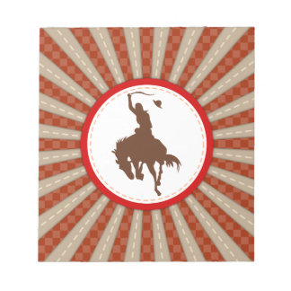 Cowboy Rodeo Red Brown Notepad