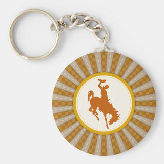 Cowboy Rodeo Yellow Gold Keychain