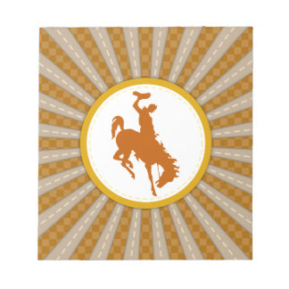 Cowboy Rodeo Yellow Gold Notepad