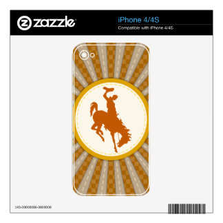 Cowboy Rodeo Yellow Gold iPhone 4 Skins