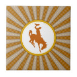 Cowboy Rodeo Yellow Gold Tile