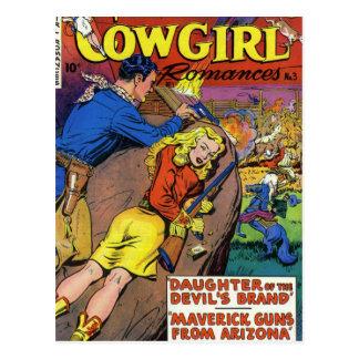 Cowboy Romances Postcard