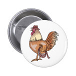 COWBOY ROOSTER 2 INCH ROUND BUTTON