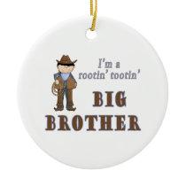 cowboy rootin tootin big brother ceramic ornament