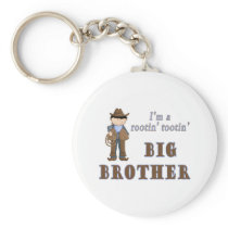 cowboy rootin tootin big brother keychain