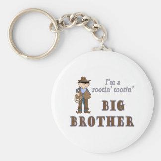 cowboy rootin tootin big brother keychain