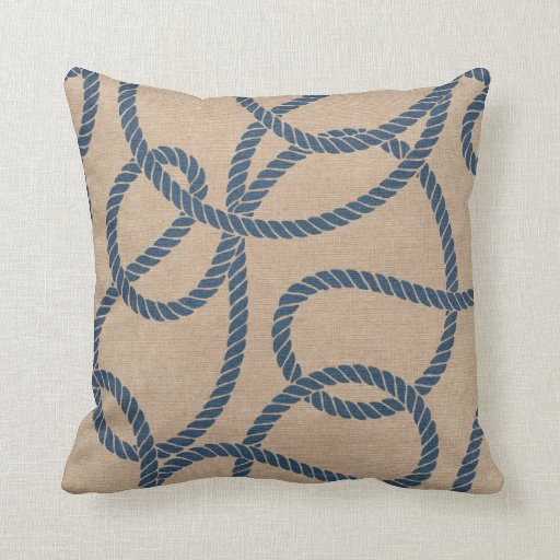 blue and tan throw pillows cowboy rope pattern in and blue throw pillows zazzle 7926