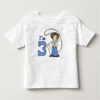 Cowboy Roper 3rd Birthday Toddler T-shirt