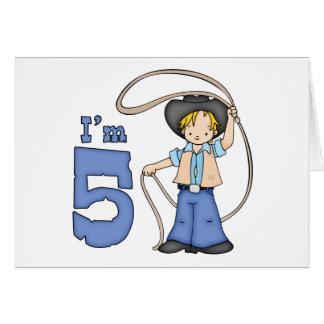 Cowboy Roper 5th Birthday Invitation