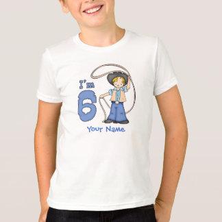 Cowboy Roper 6th Birthday Personalized T-Shirt