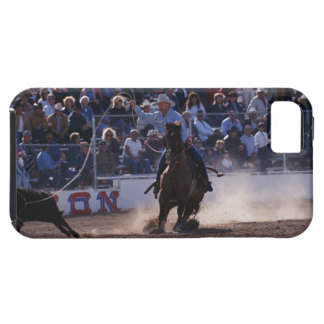 Cowboy Roping Calf at Rodeo iPhone SE/5/5s Case