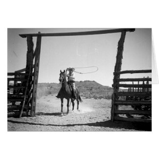 Cowboy roping card