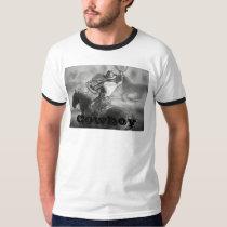 Cowboy Roping Wild Horses Mens T-Shirt