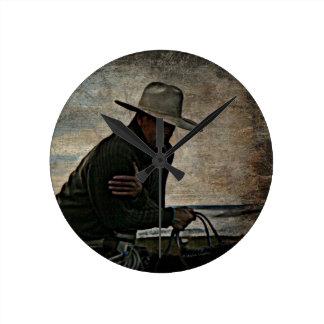 Cowboy Round Clock