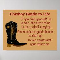 Cowboy Rules - poster art