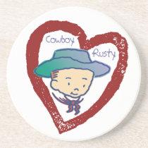 Cowboy Rusty Coaster