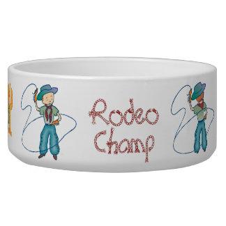 Cowboy Rusty Rodeo Champ Bowl