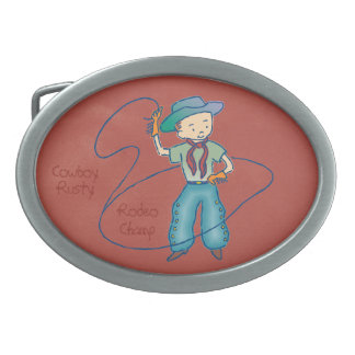 Cowboy Rusty Rodeo Champ oval Oval Belt Buckle