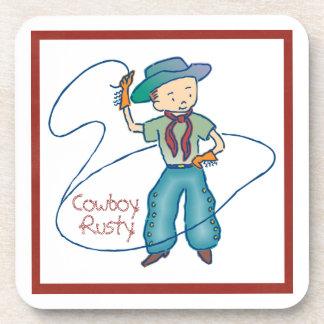 Cowboy Rusty Rodeo Lasso Tricks Coaster