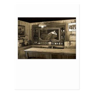 Cowboy Saloon Postcard