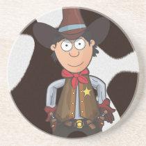 Cowboy Sandstone Coaster