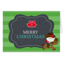 Cowboy Santa and Horse Western Christmas Card