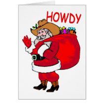Cowboy Santa Card