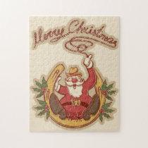 Cowboy Santa Claus Jigsaw Puzzle