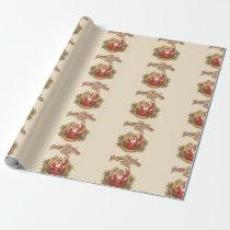 Cowboy Santa Claus Wrapping Paper