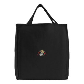 Cowboy Santa Embroidered Tote Bag