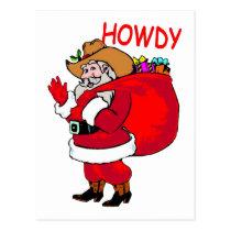 Cowboy Santa Postcard