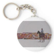 Cowboy Scenic,,, Home On The Range Keychain