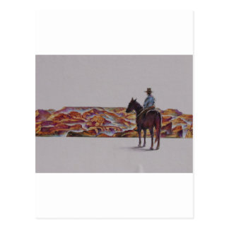Cowboy Scenic,,, Home On The Range Post Card