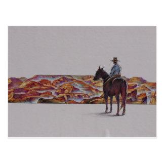 Cowboy Scenic,,, Home On The Range Postcard