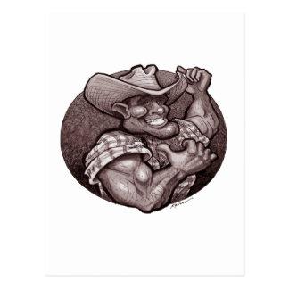 Cowboy Sepia Postcard