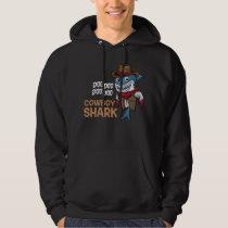 Cowboy Shark Daddy Shark Kids Hoodie